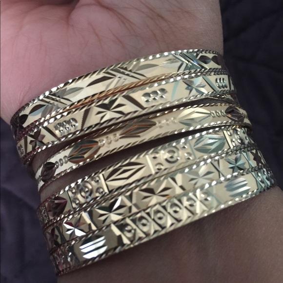 Jewelry Reserve 451 Gram Solid 18k 7 Days Bangles Set Poshmark
